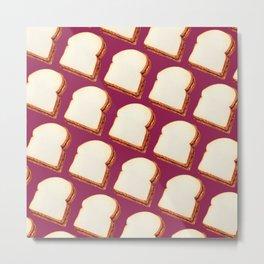 Peanut Butter & Jelly Sandwich Pattern Metal Print