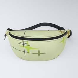 Mid Century Modern Stars Chartreuse Fanny Pack