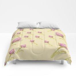 Pink Rose Buds Comforters