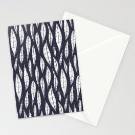 Quail Feathers (Midnight) Stationery Cards