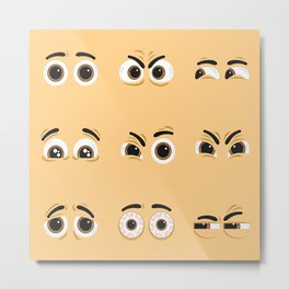 Pack of nice character eyes Metal Print
