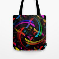 happy birthday Tote Bags featuring Happy Birthday by Fringeman