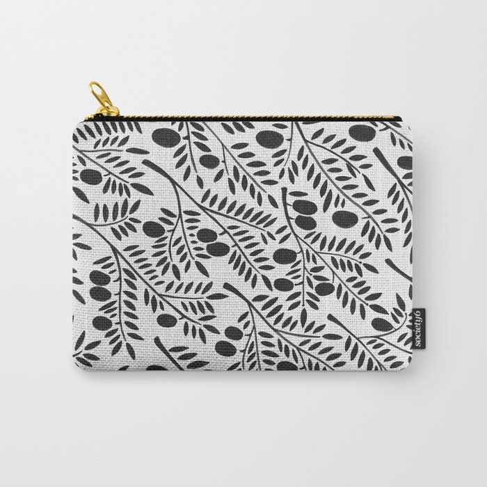 Black Olive Branches Carry-All Pouch