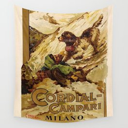 Vintage 1885 Cordial Campari Advertisement by G. Mora Wall Tapestry