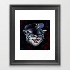 Police Cat Framed Art Print