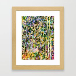 Bamboo background in nature Framed Art Print