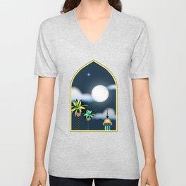 Full Moon Unisex V-Neck