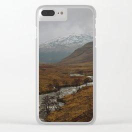 Glen Etive, Scotland Clear iPhone Case