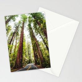 humboldt redwood forest Stationery Cards