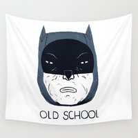old school Wall Tapestries featuring old school by Louis Roskosch
