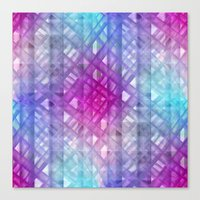 grid Canvas Prints featuring Grid by Christine baessler