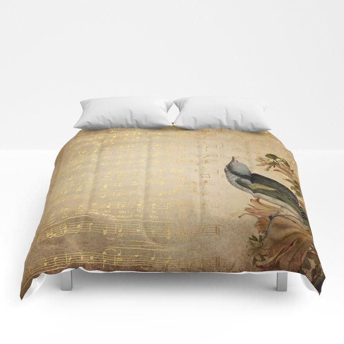 Vintage gold music #4 Comforters
