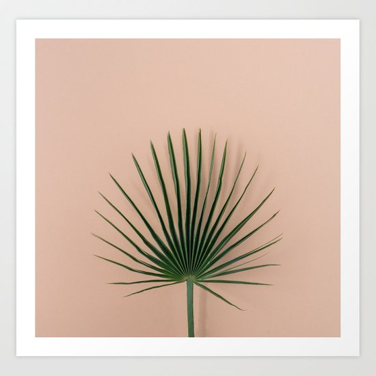 pink botanics Art Print