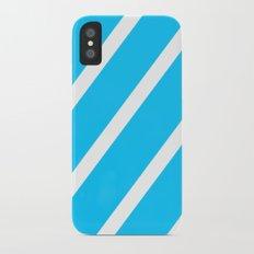 Blue & White Stripes iPhone X Slim Case