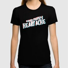 Other People's Heartache 3D Black SMALL Womens Fitted Tee