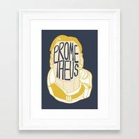 prometheus Framed Art Prints featuring Prometheus by SleptAwoke