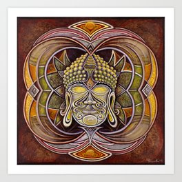 BuddhaHead Art Print