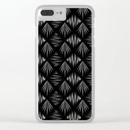 Black and White Pattern II Clear iPhone Case
