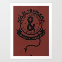 Typographic posters of Salta la Banca Art Print