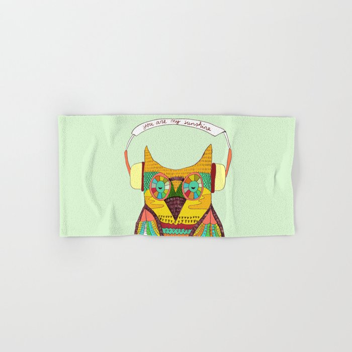 The Owl rustic song Hand & Bath Towel