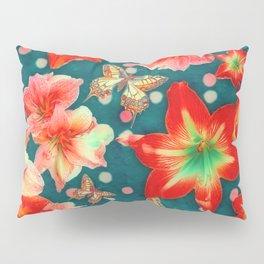 Amaryllis and Butterflies 2 Pillow Sham