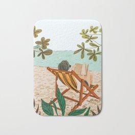 Vacay Book Club #illustration #tropical Bath Mat