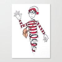 waldo Canvas Prints featuring Waldo by Lady Catton