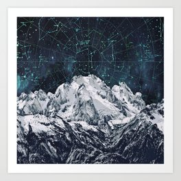Constellations over the Mountain Art Print