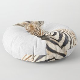 Baby Zebra - Colorful Floor Pillow