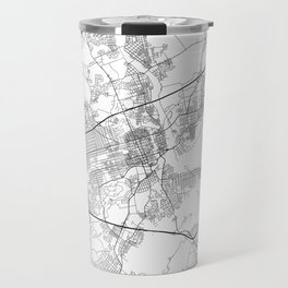 Minimal City Maps - Map Of Allentown, Pennsylvania, United States Travel Mug