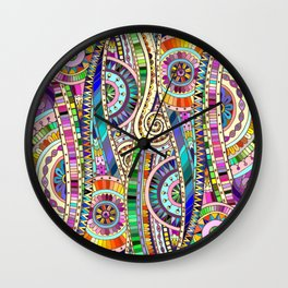 Mosaic colorful background Wall Clock