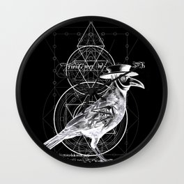 The Raven dark Wall Clock