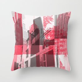 city life New york Throw Pillow