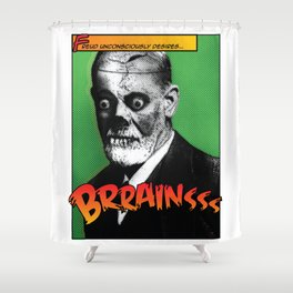 Zombie Freud Shower Curtain