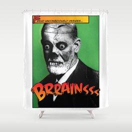 Zombie Freud Shower Curtain