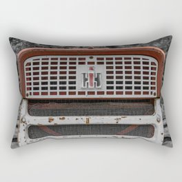 International Farmall 560 Grill Rusty Red Tractor Rectangular Pillow