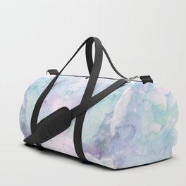 Pastel modern purple lavender hand painted watercolor wash Duffle Bag