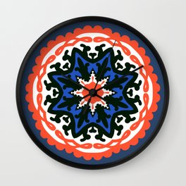 Bold and bright beauty of suzani patterns ver.6 Wall Clock