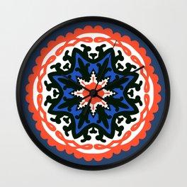 Bold and bright beauty of suzani patterns ver.6 Wall Clock