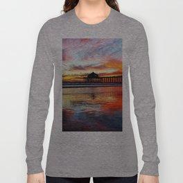 Huntington Beach Sunset    11/8/13 Long Sleeve T-shirt
