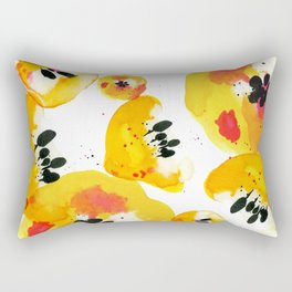 Water Flowers Rectangular Pillow