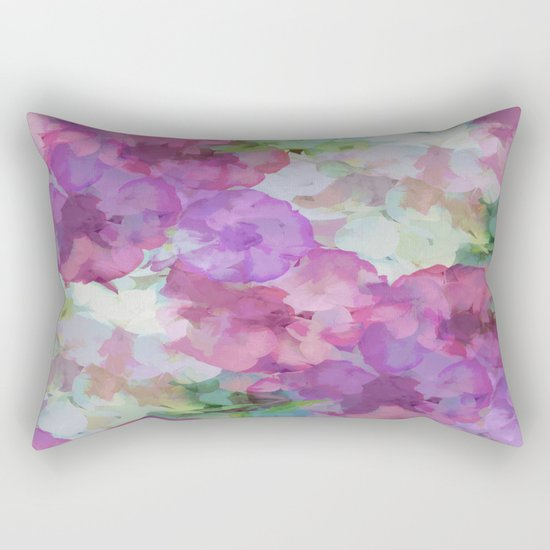 Sweet Peas Floral Abstract Rectangular Pillow