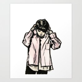 RUN BTS JUNGKOOK Art Print
