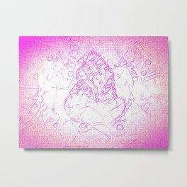 Pink siege Metal Print