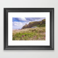 Downhill View Framed Art Print