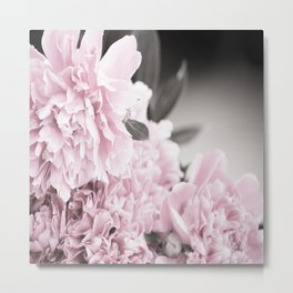 Summer Atmosphere Pale Pink Peonies On The Table #decor #society6 Metal Print