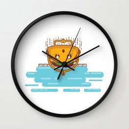 Taco and Swimming Pool Mexican Fast Food Fan Gift design Wall Clock