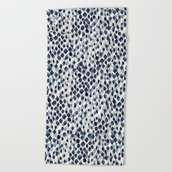 Indigo Rain Beach Towel