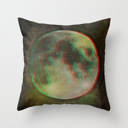 Stereo Moon Throw Pillow