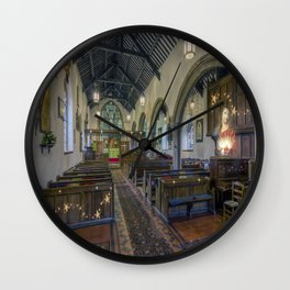 Christmas Church Wall Clock